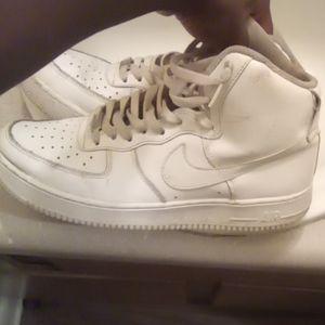 Nike all white High top